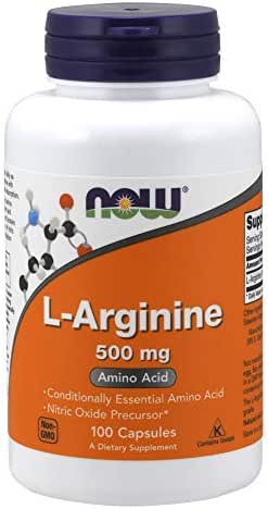 NOW Supplements, L-Arginine 500 mg, Amino Acid, 100 Capsules