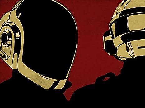 Daft Punk (19x14 inch, 47x35 cm) Silk Poster Seta Manifesto PJ15-7692 Wall Station