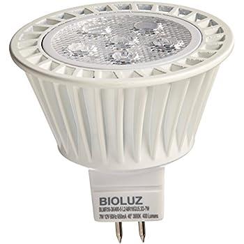 Bioluz LEDu0026trade; MR16 LED Bulbs 50W Halogen Equivalent 7w 12 VAC/DC  sc 1 st  Amazon.com & 6W MR16 LED Bulbs(1 pack) Simpome GU5.3 LED Light Bulbs 3000K ... azcodes.com