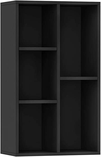 vidaXL Estantería/Aparador Aglomerado Negra 50x25x80 cm Mobiliario Hogar Casa Diseño Elegante Moderno Robusta Duradera Amplio Espacio Almacenamiento