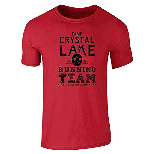 80's Movies Halloween Costumes Ideas (Camp Crystal Lake Running Team Horror Costume Red S Graphic Tee T-Shirt for)