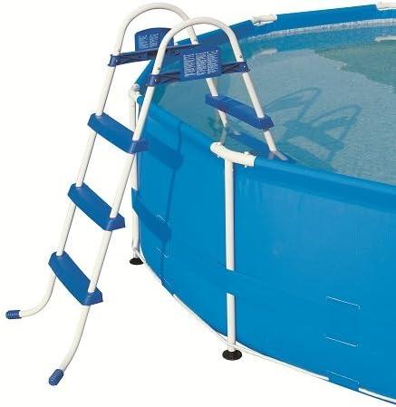 Bestway POOL Escalera para piscina con una profundidad de 0,90 m hasta 1,00 m: Amazon.es: Jardín