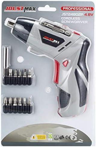 1つの電動ドライバーコードレス、リチウムイオン電池やLED照明付きパワードライバー充電式、家庭用多機能回転工具11。,グレー