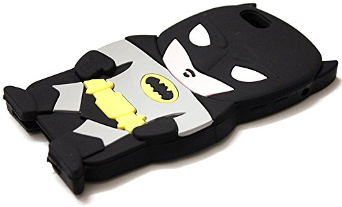 Bukit Cell 3D Superhero Case Bundle 4 Items: Batman Black Cute Justice League Cartoon Soft Silicone Case for 7 ( Not for 7 plus ) , Screen Protector + Bukit cell Metallic Stylus Pen+ cleaning cloth at Gotham City Store