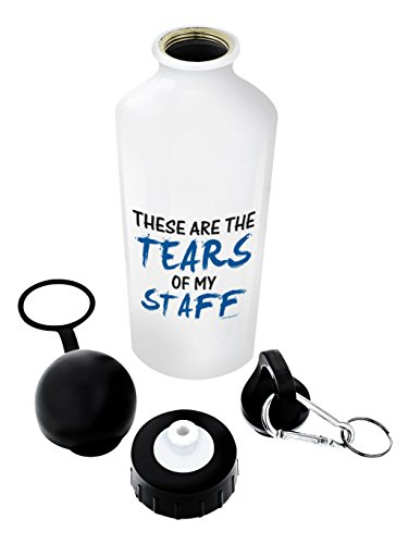 ThisWear Boss Gifts for Women Boss Gift Tears of my Staff Fun Boss or Coworker Gag Birthday Gifts for Boss Gift Aluminum Water Bottle with Cap & Sport Top White