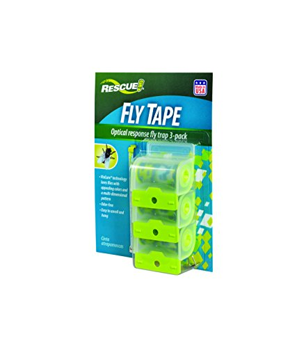 RESCUE Non-Toxic Fly Tape, 3 Pack ()