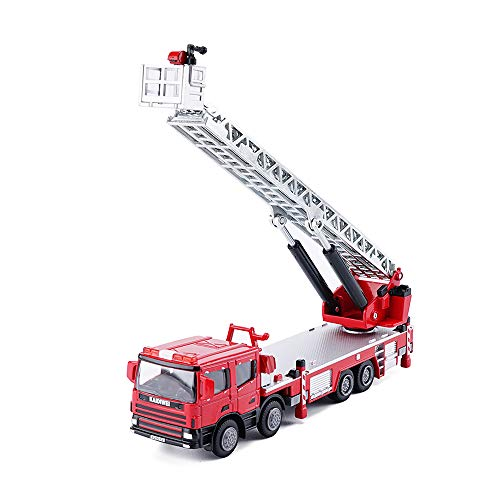 - KDW 1:50 Scale Diecast Ladder Fire Truck Construction Vehicle Cars Model Toys