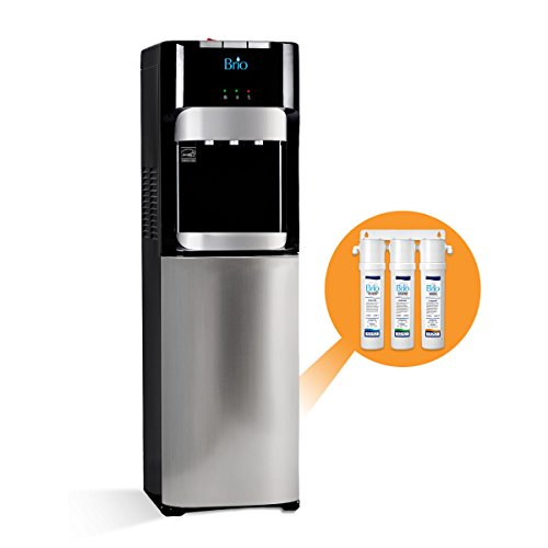Brio Commercial Grade Bottleless Filter Water Cooler Dispenser-3 Temperature Settings Hot, Cold & Room Water, Durable Stainless Steel Construction, UL/Energy Star Approved – Point of Use