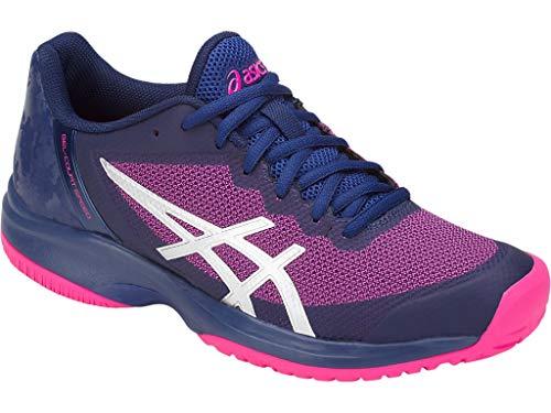 ASICS Women's Gel-Court Speed Blue Print/Pink Glo 9.5 B US