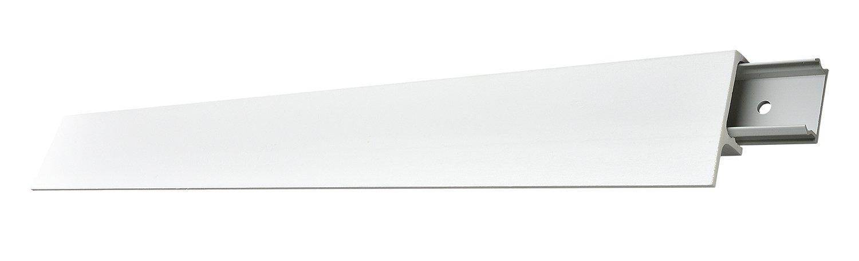 Decosa Tine, 5 Klipsprofile à 2 m Länge - Hochwertiger Kabelkanal in Weiß mit Aussparung für indirekte Beleuchtung - Kabelleiste mit integrierter Lichtleiste - inkl. 20 Befestigungsklipse - 19x65mm