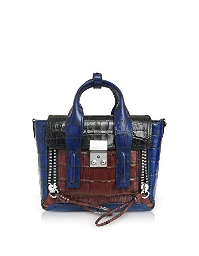 Lim Azul Ap180226crcblk Cuero 3 Mano Phillip Bolso De 1 Mujer EB4AE1nq7
