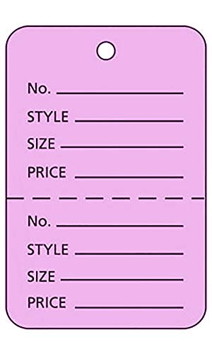 (Large Unstrung Lavender Perforated Coupon Price Tags - Pack of)