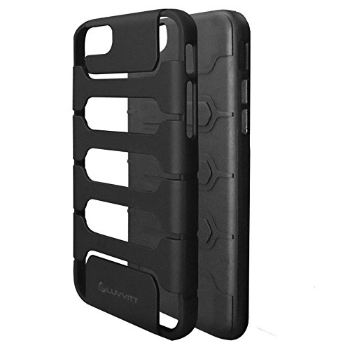 iPhone 6 Fall, luvvitt Armor Shell iPhone 6 Fall/11,9 cm Bildschirm iPhone Air Armor Fall | Double Layer, Cover – schwarz/schwarz