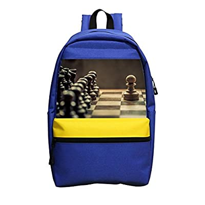 CsUaO Chess School Bag Backpacks Printing Student Shoulder Rucksack Blue outlet