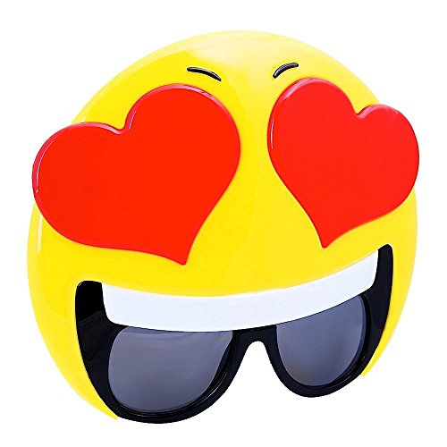 Sunstaches Emotion Hearts Sunglasses