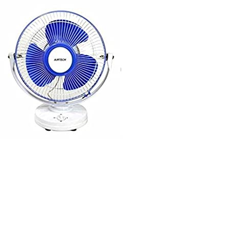 Buy Airtech 50-Watt Table Fan (White Blue) Online at Low Prices in