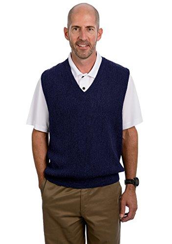 Alpaca Golf Men's V-Neck Links Vest Midnight Blue L ()