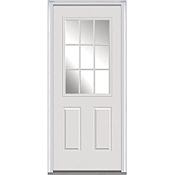 national door company z000364l fiberglass smooth primed left hand