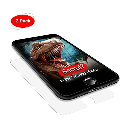 Misalign? Bubble? Dust? Never! Agvee Patent Installation Kit, 5.5 inch iPhone 6 6s 7 8 Plus Screen Protector, 9H 2.5D Edge Flat Tempered Glass Clear Touch LCD Film for Apple, Case Friendly, 2 Pack (Lcd Tempered Glass)