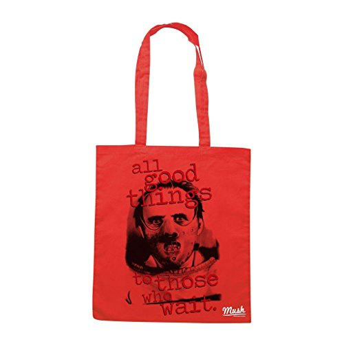 Borsa Hannibal Lecter All Good Things To Those Who Wait - Rossa - Film by Mush Dress Your Style