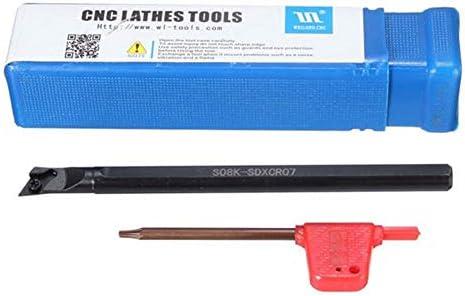 Metalldrehwerkzeughalter, Werkzeugzubehör CNC-Drehmaschine Drehwerkzeughalter Bohrstange for DCMT0702 Insert 8x125mm S08K-SDXCR07