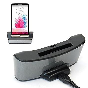 USB Sync Cargador estación carga muelle adaptador+cargador de batería para LG G3 D850 D855