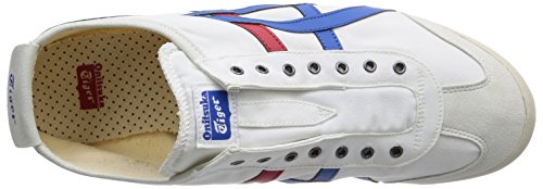 ASICS Men's Mexico 66 Slip-ON, White/Tricolor, 27.5 cm