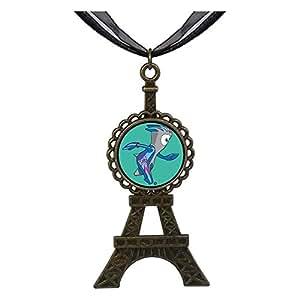 Chicforest Bronze Retro Style Olympic Games Mandeville mascot Eiffel Pendant