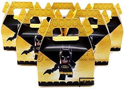 Astra Gourmet Batman Cajas de recuerdos de fiesta - 24 ct superhéroe Treat Goody bolsas para niños cumpleaños fiesta evento regalo: Amazon.es: Hogar