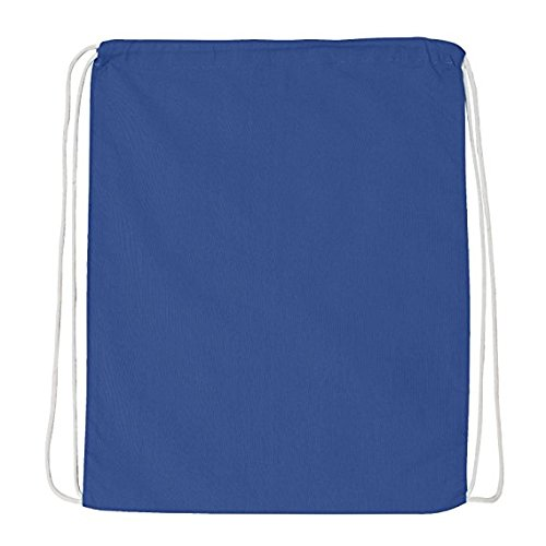 Great Deal! (12 Pack) 1 DOZEN Budget Friendly Sport Drawstring Backpack%100 Cotton Bags for Sport,Gym or Promotional Plain Backpacks (ROYAL) by Georgiabags (Image #1)