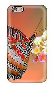 HHhREga8788dvnEZ Anti-scratch Case Cover AmandaMichaelFazio Protective Butterfly On Flower Case For Iphone 6