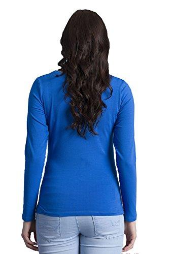 Verkauft von Mamimode - Camiseta de manga larga - para mujer azul oscuro