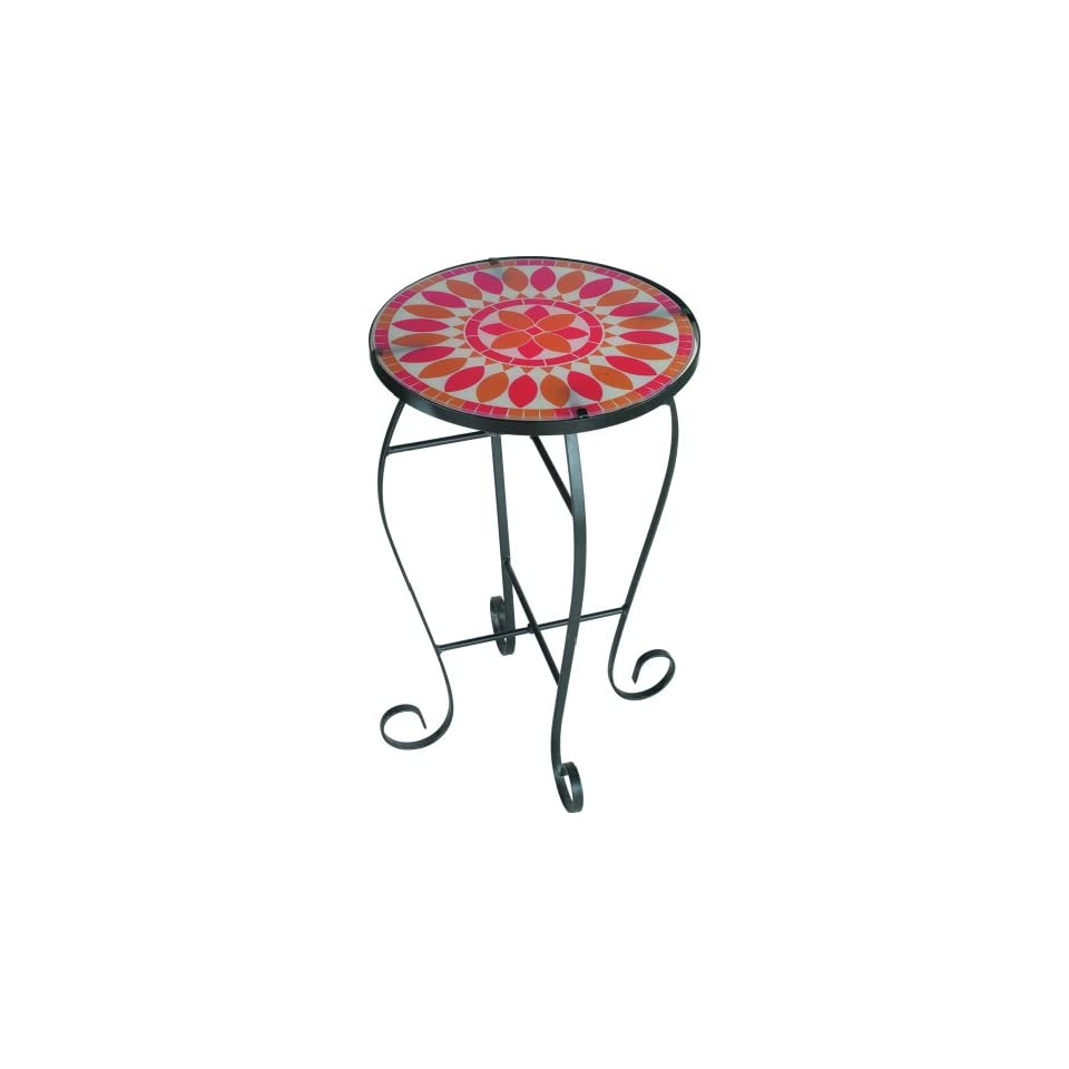 Royce Lighting Indoor/Outdoor Lighted Table Red Quill PatternRF59B BK