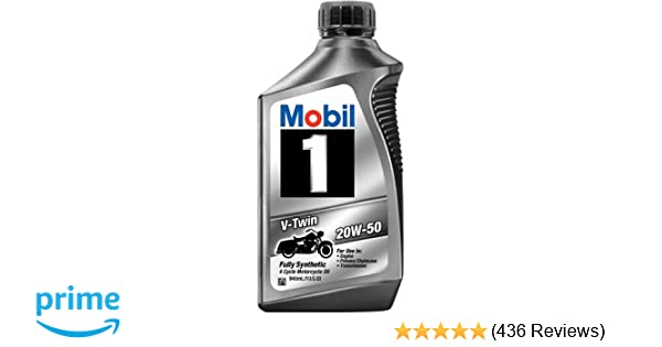 Amazon Com Pack Of 4 Mobil 1 20w 50 Full Synthetic Motorcycle
