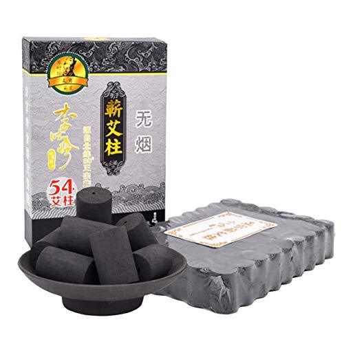 (Smokeless Moxa Rolls Original Pure High Penetration Smokeless Moxibustion Sticks Moxa Stick Five Chen Purity 30:1 Ratio 54)