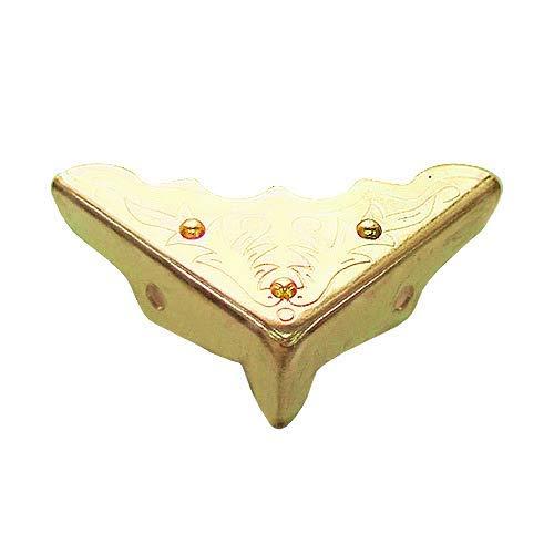 Antique Decorative Vintage Box Corner Guards Protectors Edge Cover, 40 Pcs (32mm, Brass)