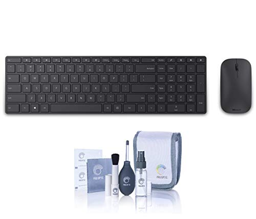 - Microsoft Designer Wireless Bluetooth Desktop Keyboard and Mouse (7N9-00001) - with ProOptic Cleaning Kit