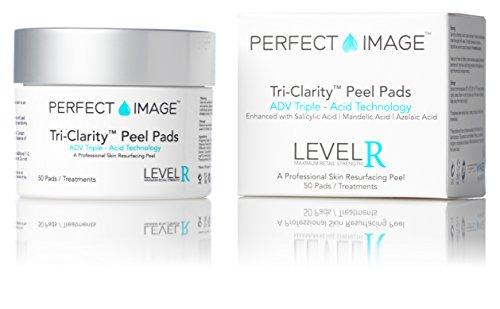 TRI-Clarity Peel Pads 10% (Daily-Use) - Enhanced with Salicylic Acid | Mandelic Acid | Tea Tree Oil | Green Tea Extract