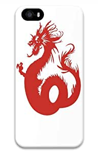 Hot iPhone 5S 3D Customized Unique Print Design Angry Asian Dragon New Fashion iPhone 5/5S Cases