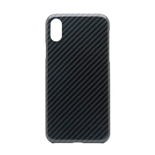 PRODAA Kevlar Fiber Case for iPhone X, Aramid Fiber Case iPhone X (Military Standard Material) Super Thin(0.7mm) Ultra Light(12g) Sturdy Non-Slip Wear Resistant Case for iPhone X - Glossy Black