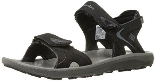 Columbia Men's Techsun Sport Sandal, Black, Titanium MHW, 10 Regular (Columbia Suede Sandals)