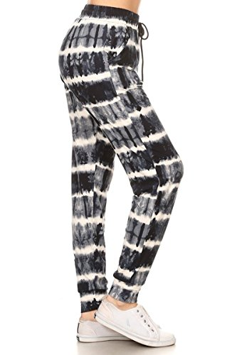 Popular Blend - Leggings Depot Premium Jogger Women's Popular Print and Solid High Waist Track Pants(S-XL) (Triple Shades of Gray, Large)