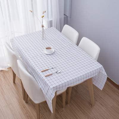 LYINHGL Mantel de PVC de Celosía Minimalista a Prueba de Agua y Mantel Desechable a Prueba de Aceite, Mantel Desechable, Rejilla Negra y Blanca, 137 * 137 Cm: Amazon.es: Jardín