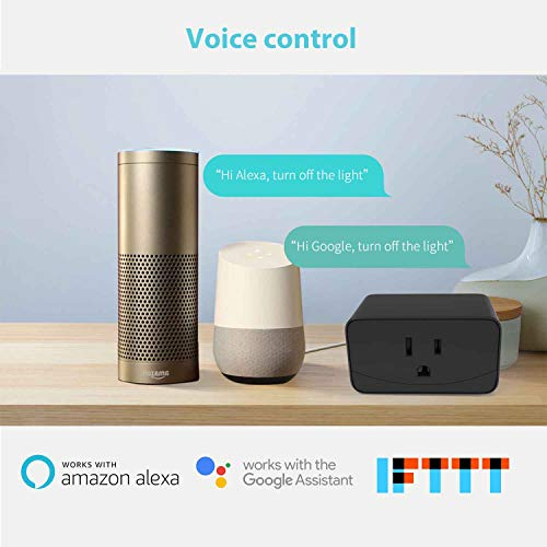 meross Smart Plug Mini WiFi Outlet, Compatible with Alexa and Google  Assistant, App Control, Timer Function, 16A, No Hub Needed, FCC & ETL  Certified,