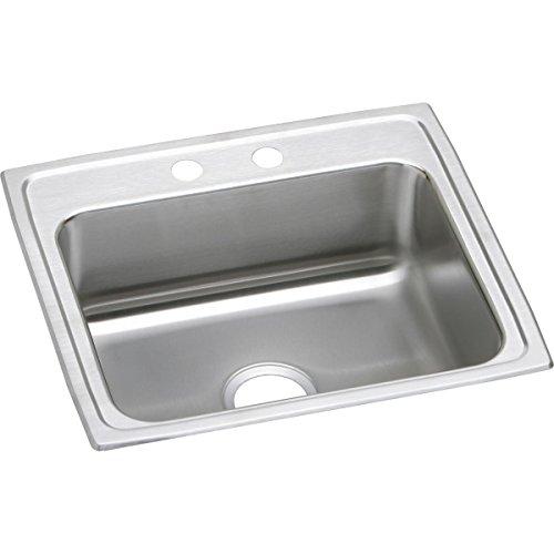 Elkay Lustertone Classic LRAD2219553 Single Bowl Drop-in Stainless Steel ADA Sink ()