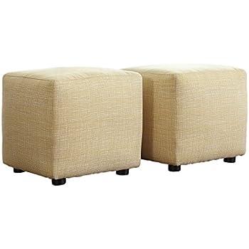ashley furniture signature design chamberly cube ottoman upholstered buttercup