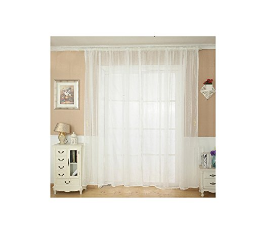 Solid Color Tulle Door Window Curtain Drape Panel Sheer Scarf Valance White - 8