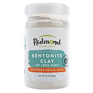 Redmond Clay - Bentonite Clay of 1000 Uses, Soothing Facial Mask 24 Ounce