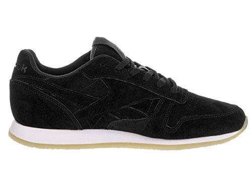 Black Pop Women's Cl Neutral Crepe Lthr Reebok Shoe Casual White x68wqFxC