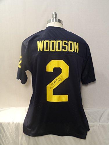 Charles Woodson Signed Blue Custom Autographed Pro-style Novelty Custom Jersey